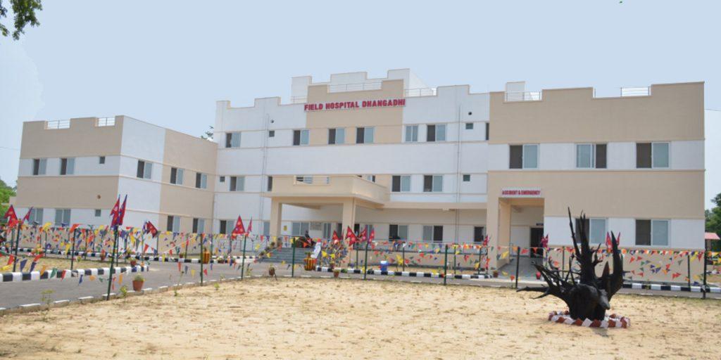 धनगढीमा नेपाली सेनाले सञ्चालनमा ल्यायो २५ शय्याको फिल्ड अस्पताल
